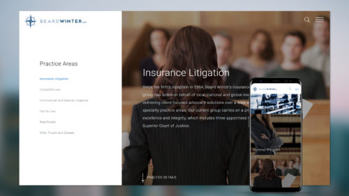 beard law firm website design and development